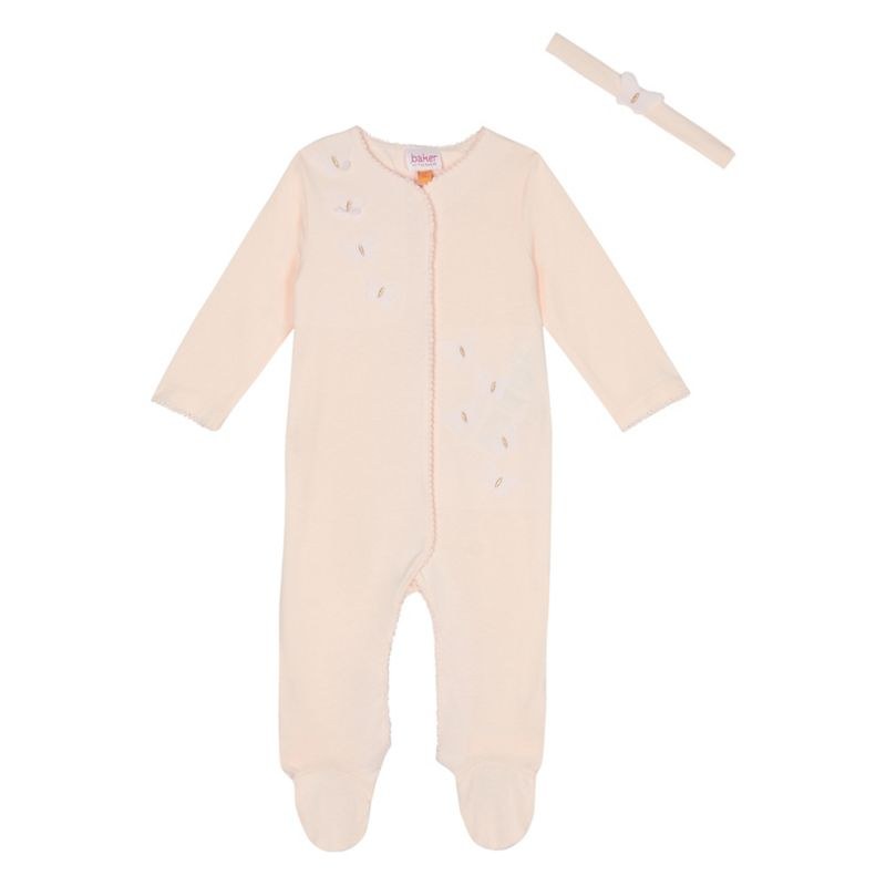 Baker by Ted Baker Baby girls light pink butterfly applique