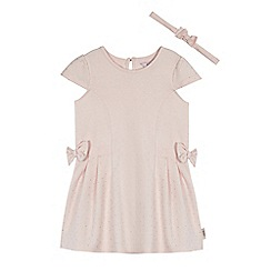 Baker by Ted Baker - Girls' light pink dress and headband set