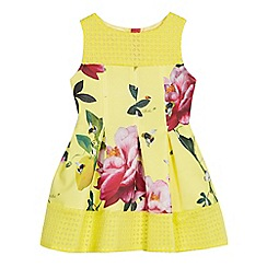 Baker by Ted Baker - Girls' yellow floral print scuba dress