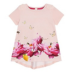 Baker by Ted Baker - Girls' pink floral print t-shirt