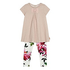 Baker by Ted Baker - Girls' light pink sparkle tunic and leggings set