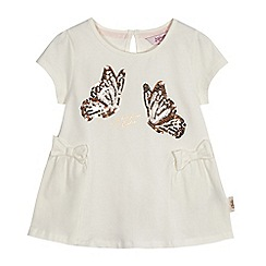 Baker by Ted Baker - Girls' ivory sequin butterfly t-shirt