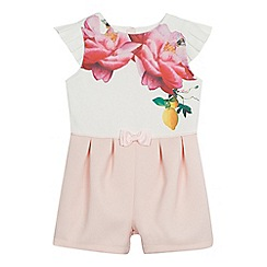 Baker by Ted Baker - Girls' white floral print playsuit