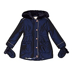Baker by Ted Baker - Girls' navy padded parka
