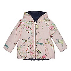 Baker by Ted Baker - Girls' navy shower resistant reversible coat