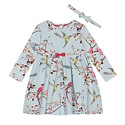 Baker by Ted Baker - Girls' navy floral print swing dress and headband