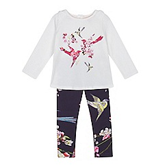 Baker by Ted Baker - Girls' off-white bird print top and leggings set