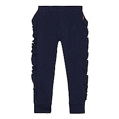 Baker by Ted Baker - Girls' navy spotted frilled trim trousers