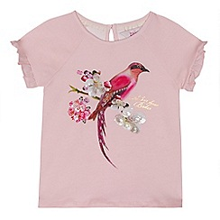 Baker by Ted Baker - Girls' pink sequinned embellished bird print top