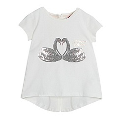 Baker by Ted Baker - Girls' white sequinned swans top