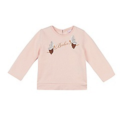Baker by Ted Baker - Girls' light pink sequinned fairy top