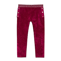 Baker by Ted Baker - Girls' dark pink velvet glittery leggings