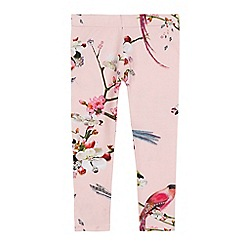 Baker by Ted Baker - Girls' light pink floral print leggings