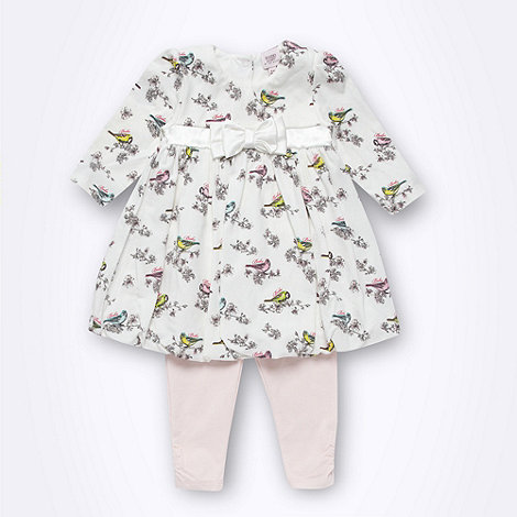 Baker by Ted Baker - Babies white bird printed tunic and leggings