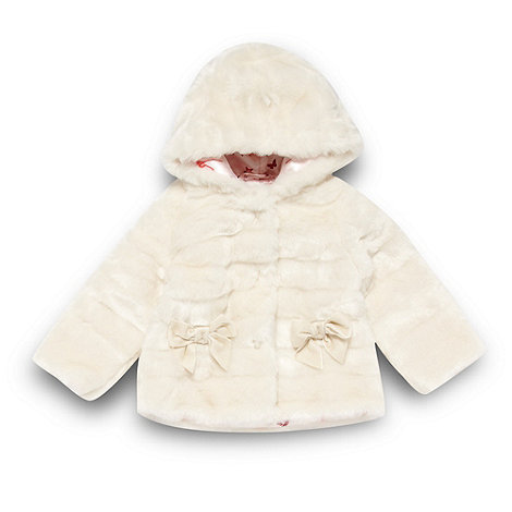 Baker by Ted Baker - Babies off white faux fur jacket