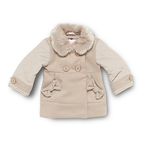 Baker by Ted Baker - Babies natural faux fur collar coat