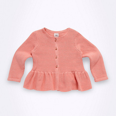 Baker by Ted Baker - Babies pink peplum knit cardigan