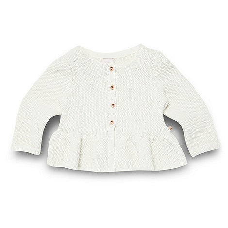 Baker by Ted Baker - Babies off white knitted peplum cardigan