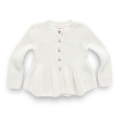 Baker by Ted Baker - Girl's cream peplum cardigan