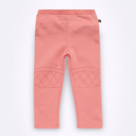 Baker by Ted Baker - Babies pink embroidered biker leggings
