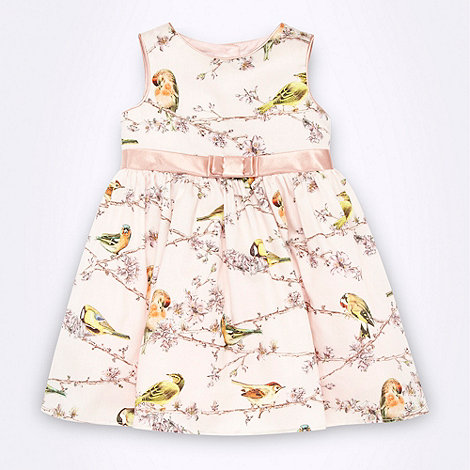 Baker by Ted Baker - Babies pink bird patterned dress