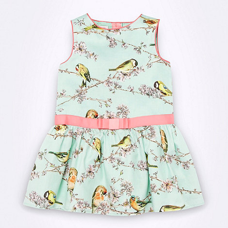 Baker by Ted Baker - Babies aqua bird printed dress