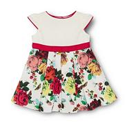 Babies off white floral party dress