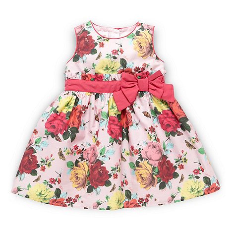 Baker by Ted Baker - Babies pale pink floral party dress