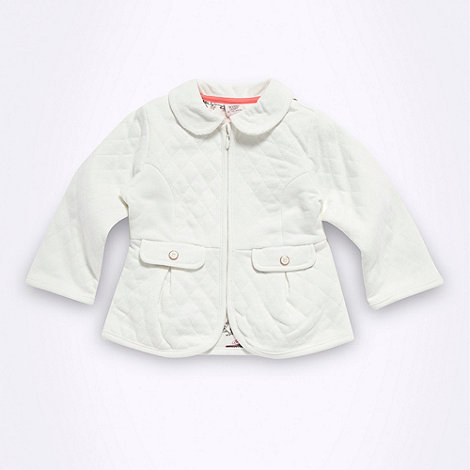 Baker by Ted Baker - Babies cream quilted jacket