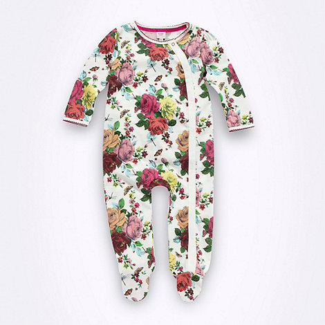 Baker by Ted Baker - Babies cream rose patterned sleepsuit
