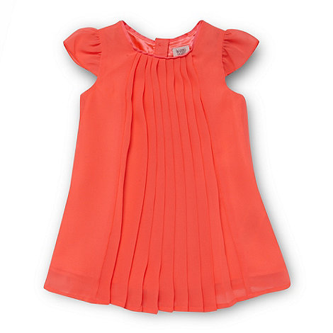 Baker by Ted Baker - Babies neon pink pleated dress