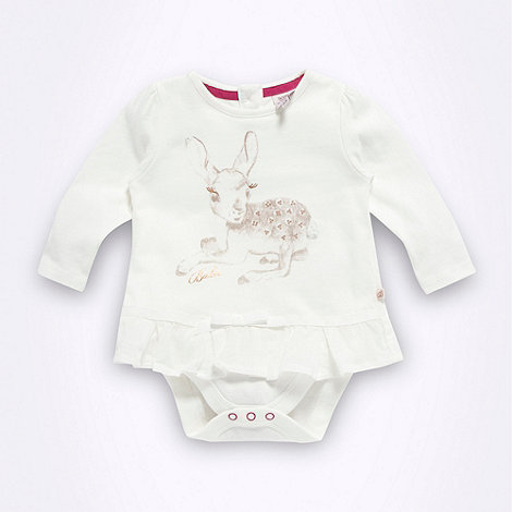 Baker by Ted Baker - Babies cream deer printed bodysuit