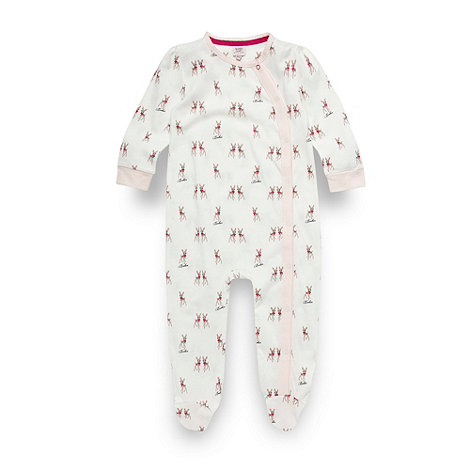 Baker by Ted Baker - Babies off white deer printed sleepsuit