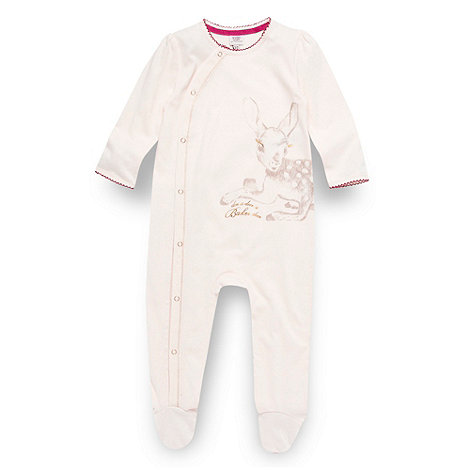 Baker by Ted Baker - Babies light pink deer sleepsuit
