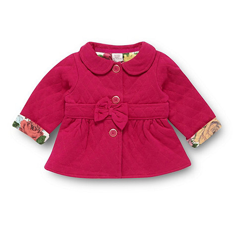 Baker by Ted Baker - Babies dark pink sweat jacket