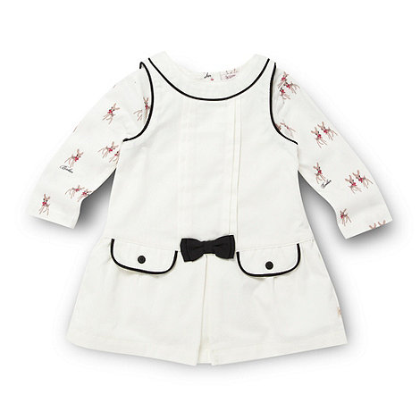 Baker by Ted Baker - Babies cream shirt dress and bodysuit set