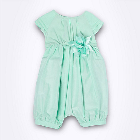 Baker by Ted Baker - Babies green woven romper suit