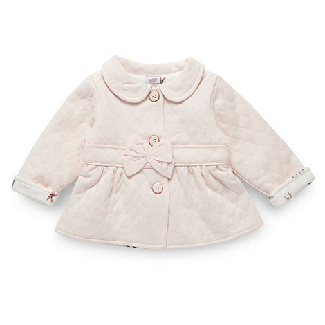 Baker by Ted Baker - Babies pale pink quilted sweat jacket