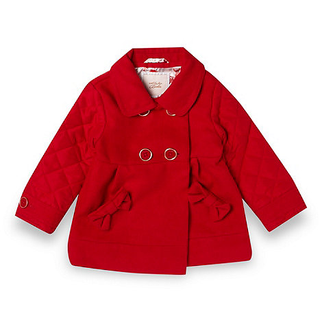 Baker by Ted Baker - Babies red quilted sleeve coat
