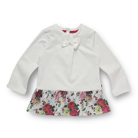 Baker by Ted Baker - Babies off white peplum jumper