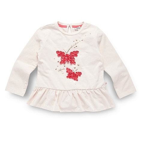 Baker by Ted Baker - Babies pink butterfly applique top