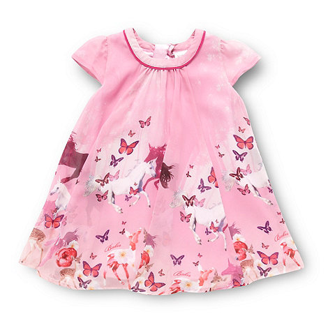 Baker by Ted Baker - Babies pink butterfly and horse patterned dress