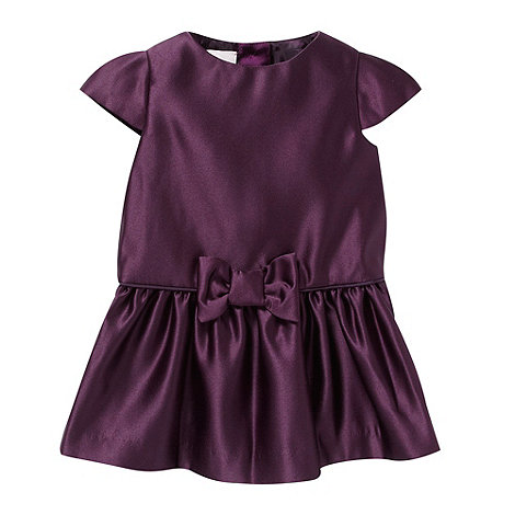 Baker by Ted Baker - Babies purple satin bow party dress