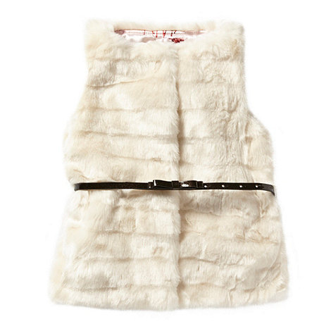 Baker by Ted Baker - Girl+s ivory faux fur gilet