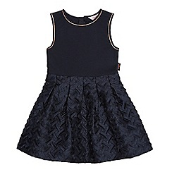 Baker by Ted Baker - Girls' navy lattice dress