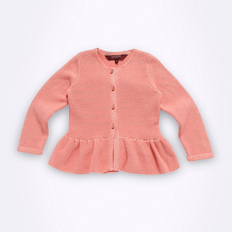 Baker by Ted Baker - Girl+s pink peplum knit cardigan
