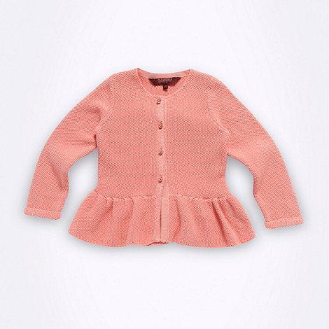 Baker by Ted Baker - Girl+s pink peplum knit cardigan