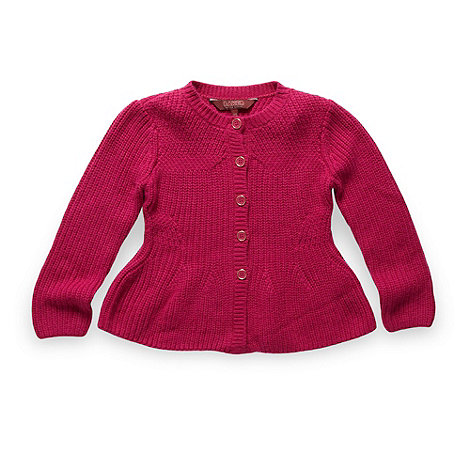 Baker by Ted Baker - Girl+s dark pink peplum cardigan