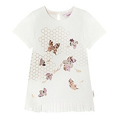 Baker by Ted Baker - Girls' white sequinned embellished bee top