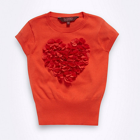 Baker by Ted Baker - Babies orange applique heart jumper